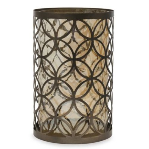 10.5-Inch Circle Candle Holder in Bronze