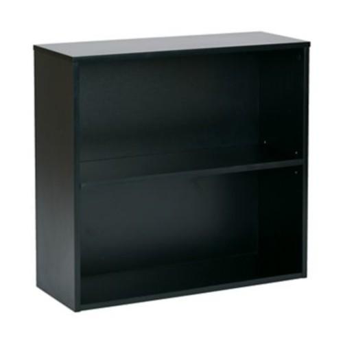 Pro-Line II Prado 31.5'' 2-Shelf Bookcase, Black (PRD3230-BLK)