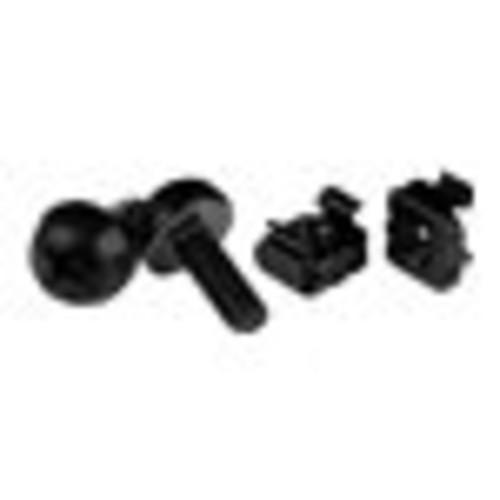 Startech CABSCREWM62B M6 Screws & Cage Nuts 100 Pack Black