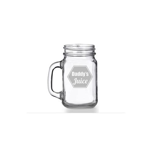 Daddy's Juice Mason Jar Mug (Set of 4)