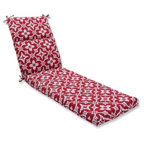 Pillow Perfect Outdoor One Piece Seat And Back Cushion - Red