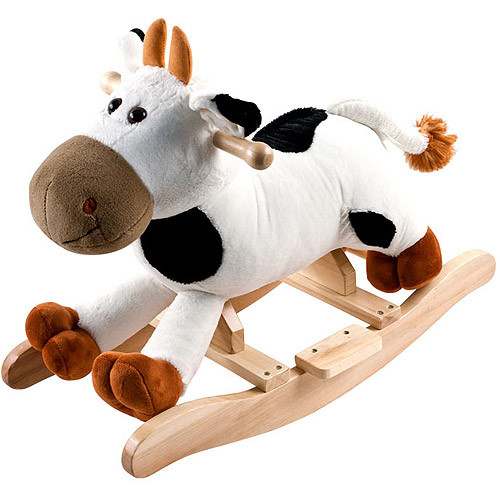 Happy Trails Plush Rocking Connie Cow With Sounds - White/Brown [Connie Cow]