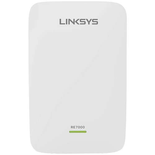 Linksys RE7000 Max-Stream AC1900+ Wireless Range Extender - Dual-Band, Beamforming, MU-MIMO Technology, Spot Finder, Push Button, Up to 10,000 sq. ft., GbE Port (Refurbished) - RE7000-RM-SEC