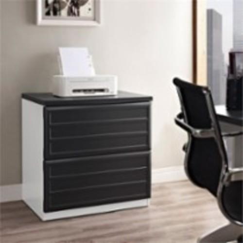 Altra Furniture - Altra Furniture Pursuit 2 Drawer File Cabinet in White and Gray - White