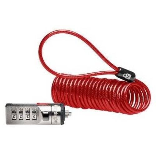 Kensington Portable Combination Cable Lock for Laptops and Other Devices - Red (K64671AM)