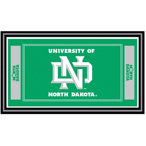 Trademark Games North Dakota Fighting Hawks Framed Team Logo Mirror