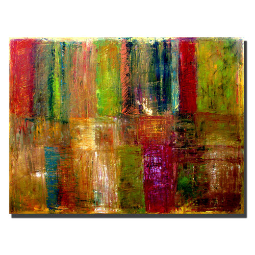 Trademark Global Michelle Calkins 'Color Abstract' Canvas Art [Overall Dimensions : 35x47]