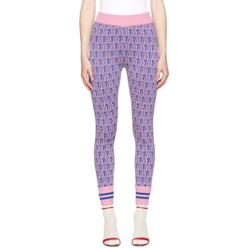 GUCCI Pink & Blue Mushroom Leggings