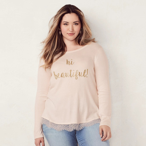 Plus Size LC Lauren Conrad Graphic Tunic