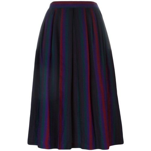 YVES SAINT LAURENT VINTAGE Striped Pleated Skirt