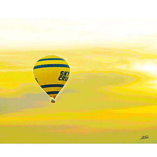 Stewart Parr 'Luxor, Egypt - Nile River hot air balloon' Unframed Photo Print