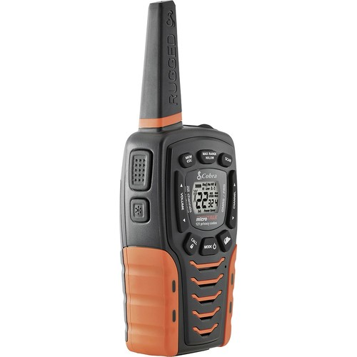 Cobra - 35-Mile, 22-Channel 2-Way Radios (Pair) - Black/Orange