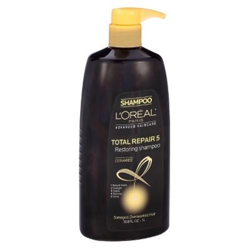 L'Oreal Paris Advanced Haircare Total Repair 5 Restoring Shampoo - 33.8oz