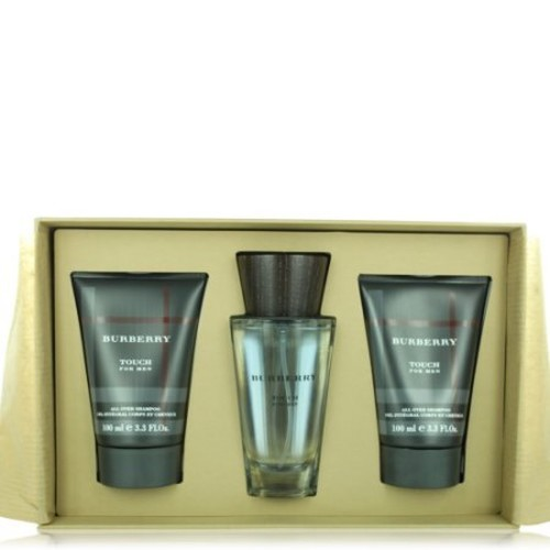 BURBERRY TOUCH MEN 3 PIECE GIFT SET - 3.3 OZ EAU DE TOILETTE SPRAY by BURBERRY