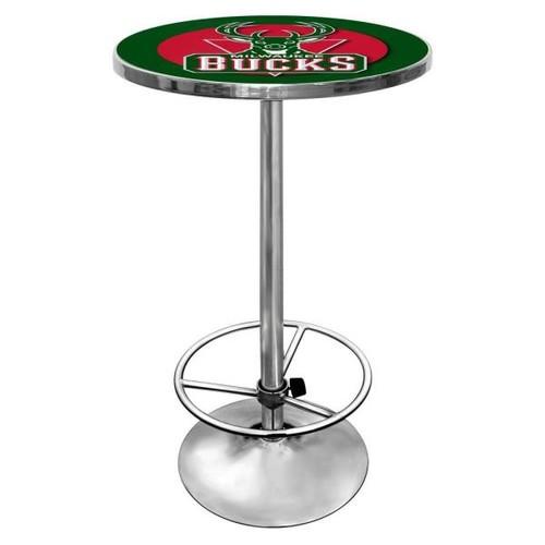 Trademark NBA Milwaukee Bucks Chrome Pub/Bar Table