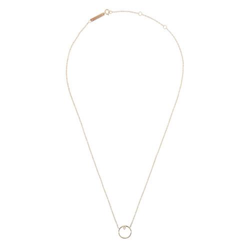 Diamond Circle Gold Necklace