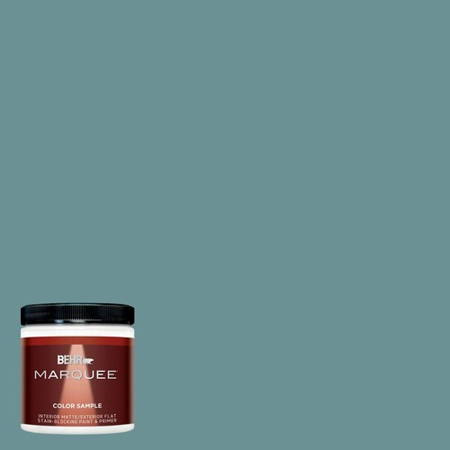 BEHR MARQUEE 8 oz. #T15-16 Blue Clay Interior/Exterior Flat/Matte Paint Sample