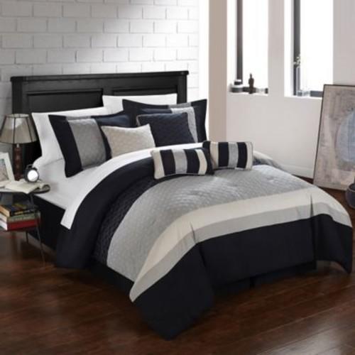 Chic Home Dreamz 8-Piece King Comforter Set in Beige