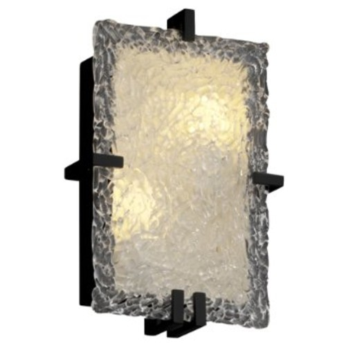Veneto Glass Clips Rectangular Wall Sconce [Finish : Polished Chrome; Shade Color : Venetian]