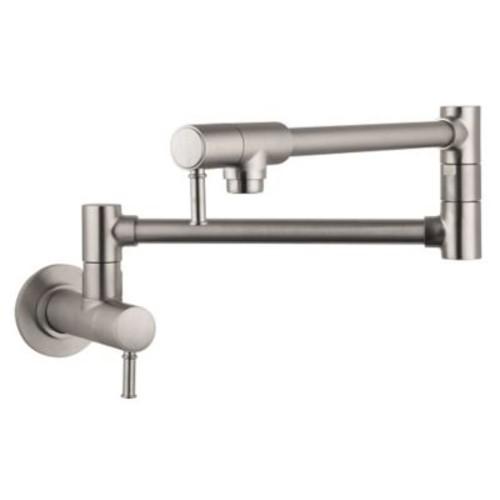 Hansgrohe Talis C Two Handle Wall Mounted Pot Fillers Faucet; Steel Optik