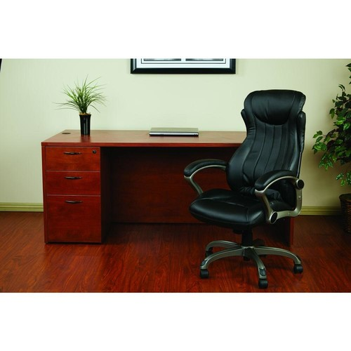 Work Smart Black Eco Leather Executive Manager Office Chair