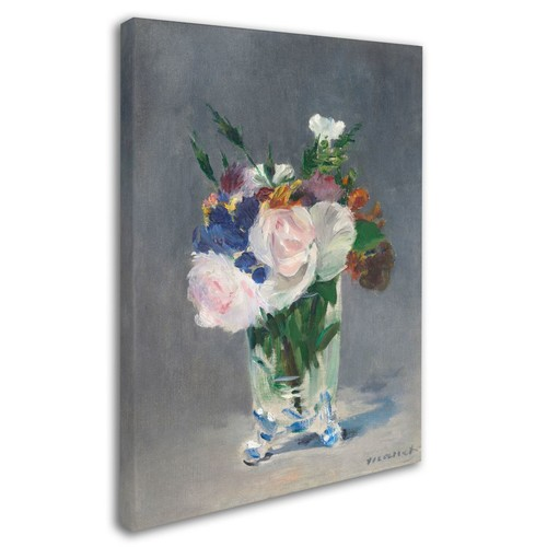 Trademark Fine Art 'Flowers In a Crystal Vase 1882' 24