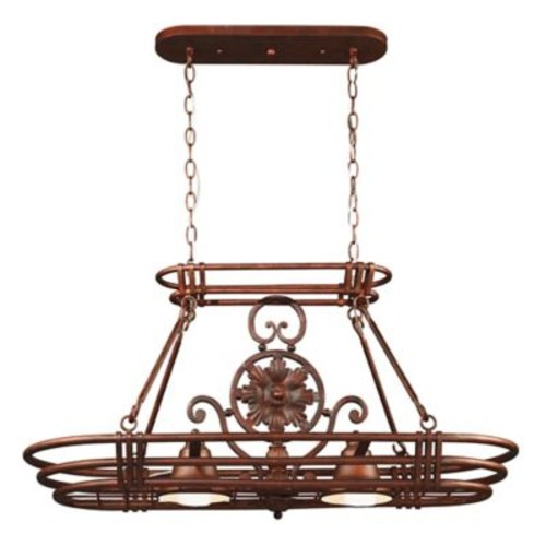 Kenroy Home Dorada 2-Light Pot Rack in Copper