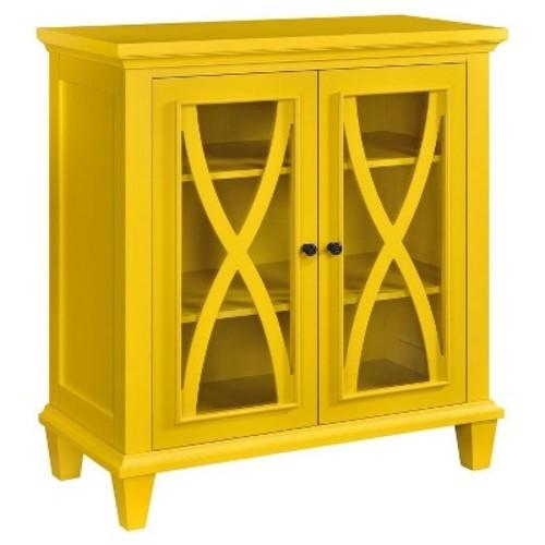 Altra Furniture Ellington Yellow Storage Cabinet