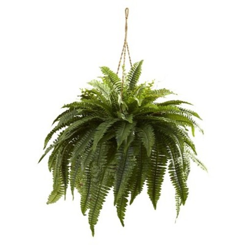 Nearly Natural Double Giant Boston Fern Hanging Silk Plant