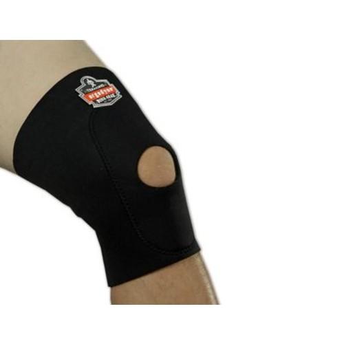 Ergodyne ProFlex Black Knee Sleeves With Open Patella/Anterior Pad