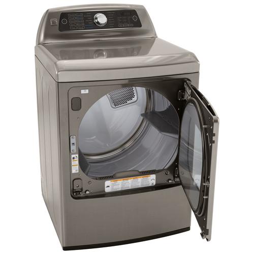 Kenmore Elite 71553 7.3 cu. ft. Gas Dryer w/ Dual-Opening Door - Metallic Silver