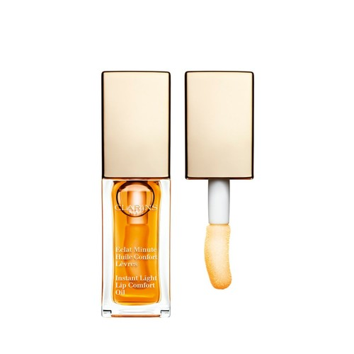 Clarins Eclat Minute Instant Light Lip Comfort Oil, No. 01 Honey, 0.1 Ounce