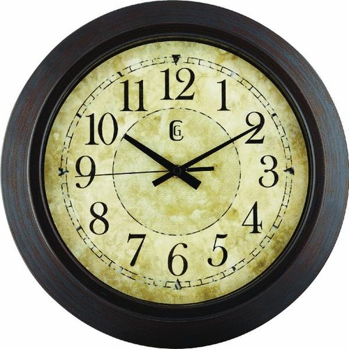 La Crosse Technology Antique Finish Round Wall Clock - 404-2635