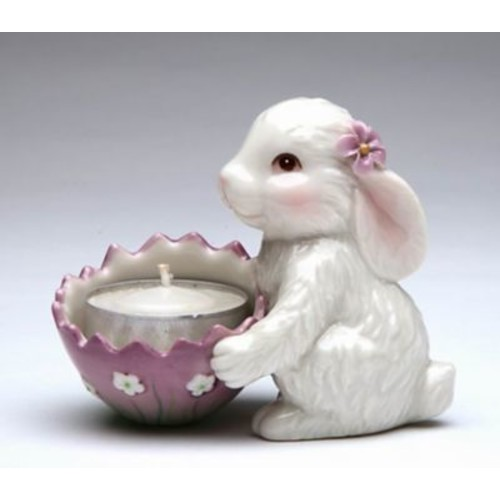 CosmosGifts Bunny Porcelain Tealight Holder