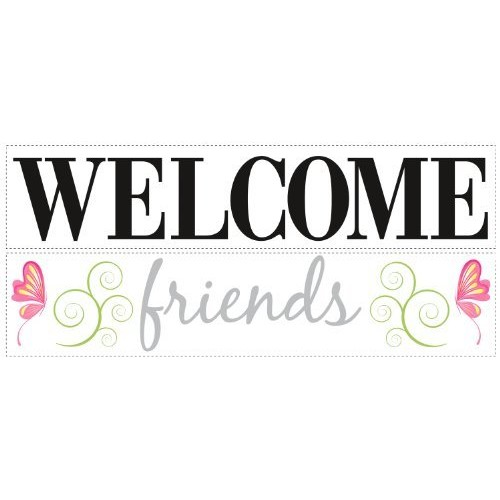 ROOMMATES RMK1558SCS Welcome Friends Peel & Stick Wall Decals