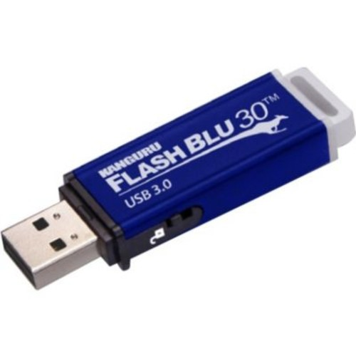 Kanguru FlashBlu30 128GB 400/175 Mbps SuperSpeed USB 3.0 Flash Drive, Blue (ALK-FB30-128GB)