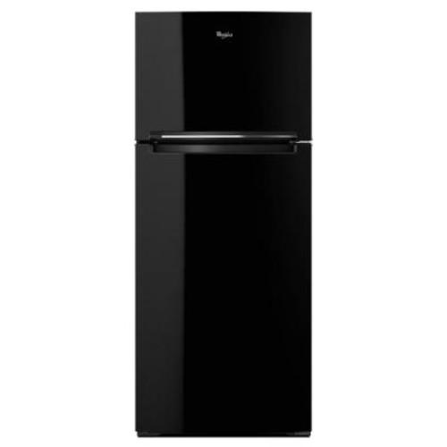 Whirlpool 28 in. W 17.6 cu. ft. Top Freezer Refrigerator in Black