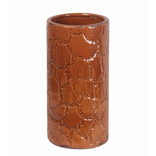 Privilege Red Ceramic Small Giraffe Pattern Vase
