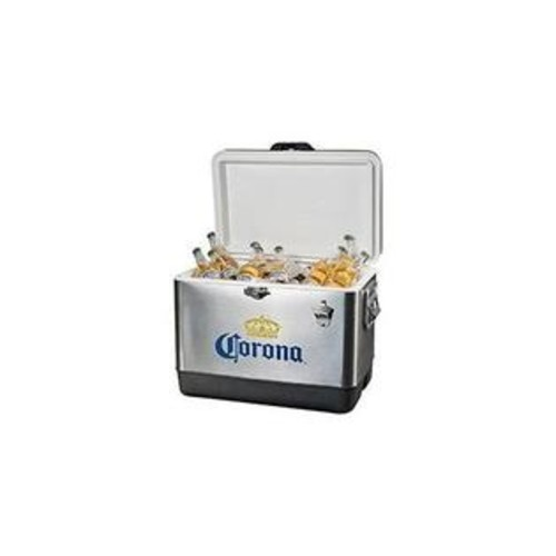 Koolatron Corona Ice Chest 54 Quart with Solid Latch Seals Cooler and Solid Stainless Steel Handles