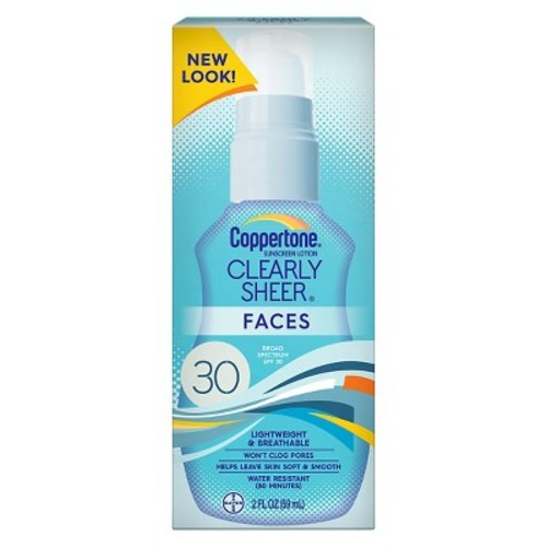 Coppertone Clearly Sheer Faces SPF 50 Sunscreen Lotion - 2 Ounce