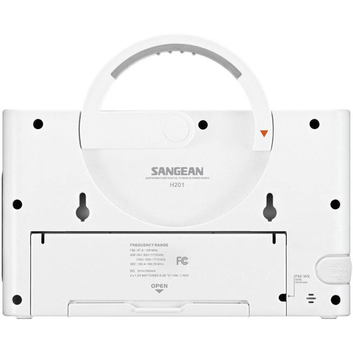 Sangean H201 AM/FM/Weather, Digital tuned Waterproof/Shower Radio [Radio]
