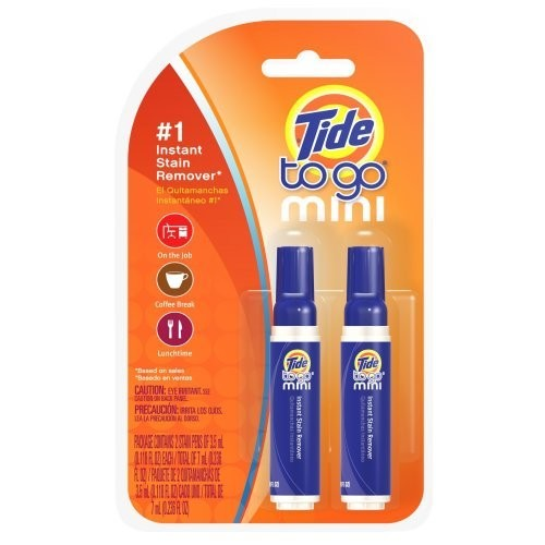 Tide To Go Mini Instant Stain Remover Pen 2 Count (Pack of 6)