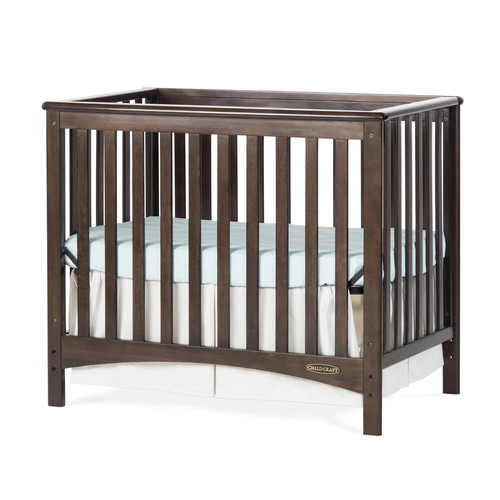 Child Craft London Euro Mini 2-in-1 Convertible Crib & Mattress