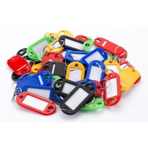 BARSKA Assorted Multi Color Key Tags (50-Pack)
