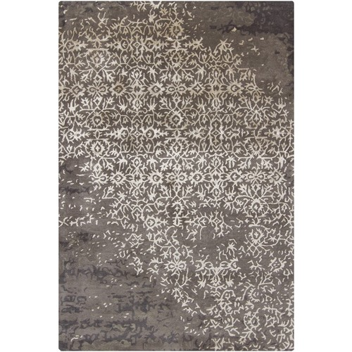 Rupec Collection Wool and Viscose Area Rug in Grey and Charcoal design by Chandra rugs - 5' x 7' 6\