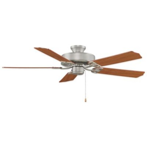 AireDcor by Fanimation 52-Inch x 13-Inch Satin Nickel Ceiling Fan with Walnut/Cherry Blades