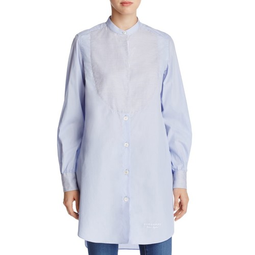 BURBERRY Button-Down Tunic Top