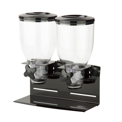 Double Pro Model 17.5 oz Dispenser, black/chrome