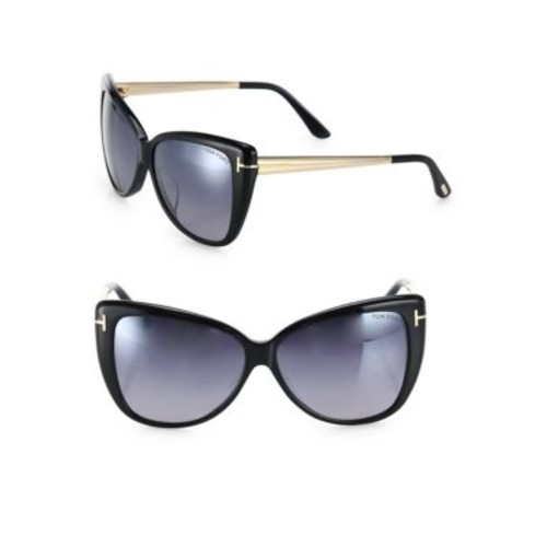 Reveka 59MM Mirrored Butterfly Sunglasses