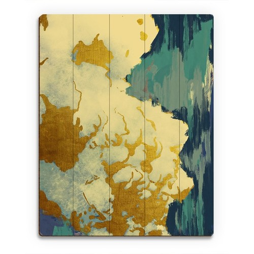 Gold Lining Main Wood Wall Art Print